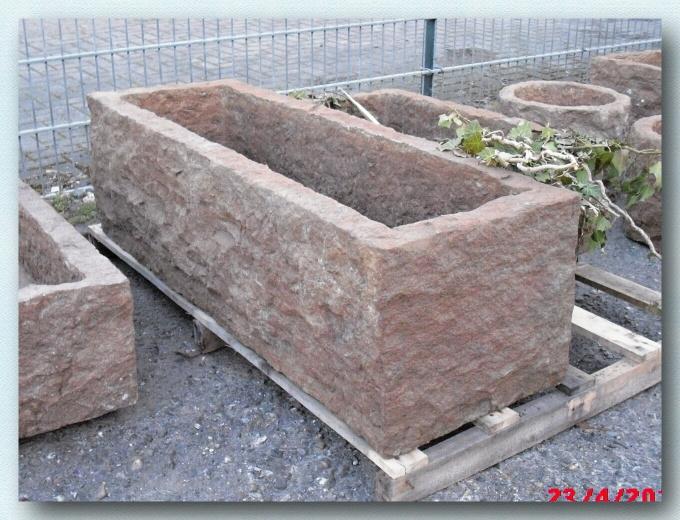 trog antiker granittrog granit 160x40x40cm neu ebay. Black Bedroom Furniture Sets. Home Design Ideas