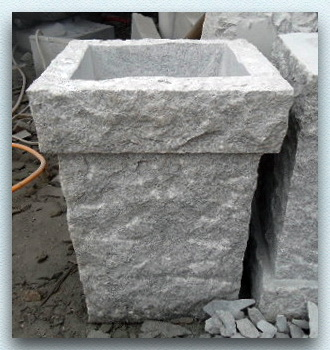 trog granittrog granit konisch viereckig padang crystal 38x38x50cm neu ebay. Black Bedroom Furniture Sets. Home Design Ideas