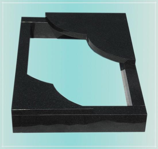 urnengrabeinfassung 100x100cm grabeinfassung granit neu. Black Bedroom Furniture Sets. Home Design Ideas
