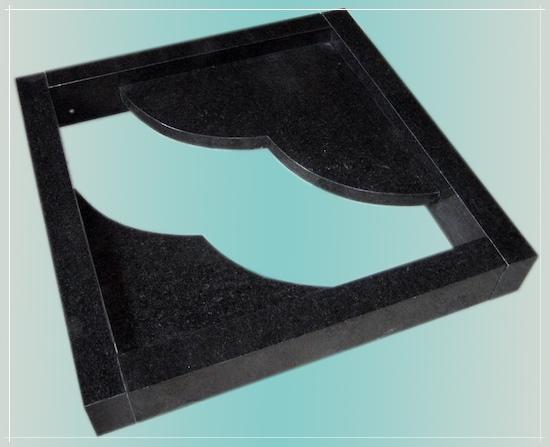 urnengrabeinfassung 100x100cm grabeinfassung granit neu impala neu ebay. Black Bedroom Furniture Sets. Home Design Ideas