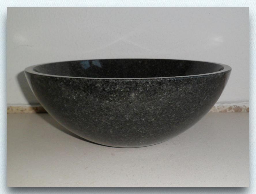 waschbecken granit neu impala rund d30x13 poliert neu ebay. Black Bedroom Furniture Sets. Home Design Ideas